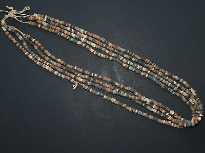 4 ANCIENT EGYPTIAN MUMMY BEADS Strands IN ORIGINAL STATE