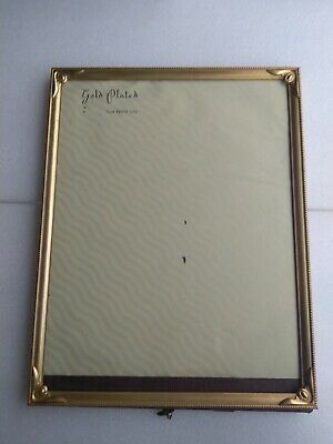vintage GOLD PLATED ART DECO ORMOLU STYLE METAL PICTURE FRAME
