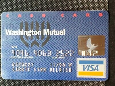 Washington Mutual Visa exp 1998♡Free Shipping♡cc1431♡