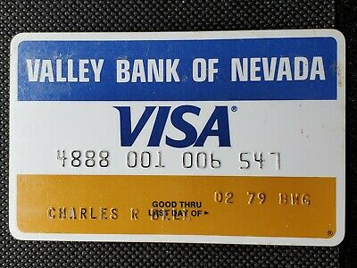 Valley Bank of Nevada Visa exp 1979♡Free Shipping♡cc1411♡