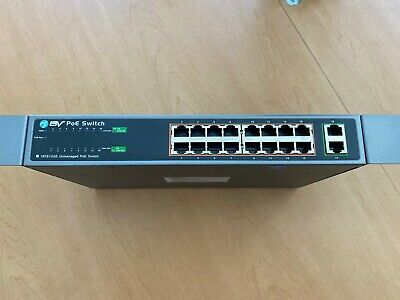 BV-Tech 16 Port PoE+ Switch + 2 Gigabit 1000Mbps Ethernet Uplink -130W- 802.3at