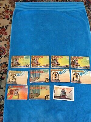 Collection Of 11 New/Used Souvenir Folder Post Cards