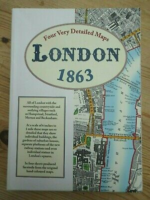 Four very detailed maps of  LONDON in 1863