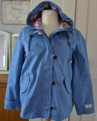 Women's Genuine Joules Right As Rain Waterproof Breathable Jacket Size 16 New !