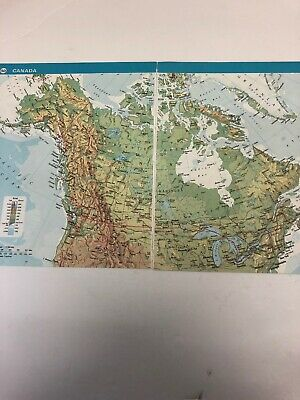 1973 Map: Canada Original Print 47 Years Old DT