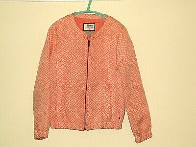 J JEANS JASPER CONRAN Girls Zip Front Pink Cream Jacket AGE 7-8 Years