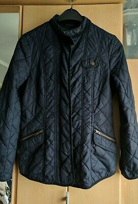 Next Navy Quilted Lightly Padded Jacket Size 10