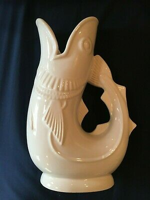 Shreve Pottery Gurgling Fish Cod Pitcher Glug Jug Made In England Crump & Low
