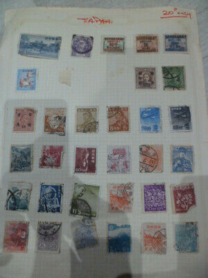 Japan Used OLD Stamps 32 mixed on paper