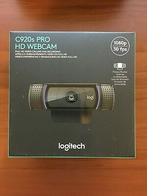 Logitech C920s Pro HD 1080p Webcam W/ Shutter - BRAND NEW - IN HAND - FREE SHIP