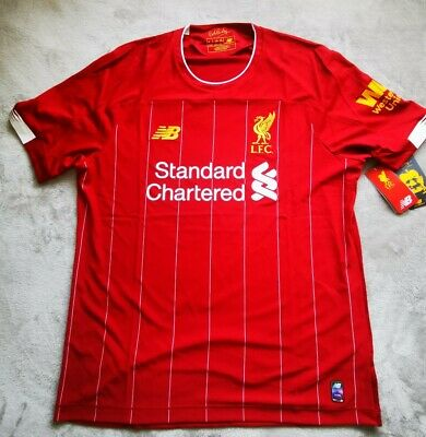 Liverpool FC Home Kit Red Short Sleeve Mens Football T-Shirt 19/20 Large Jersey