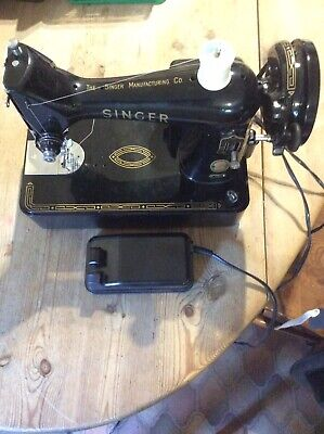 Singer 99k Vintage Electric Sewing Machine With Cover