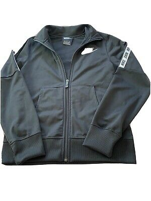 Nike Girls Black Tracksuit Top, age 12-13 Years, good condition