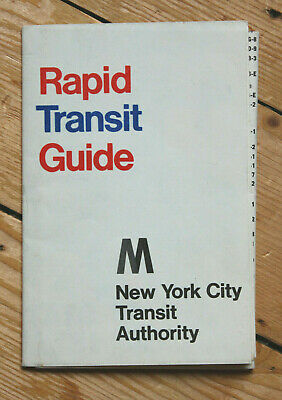 New York City Rapid Transit Guide 1969 RARE Subway Map NYC