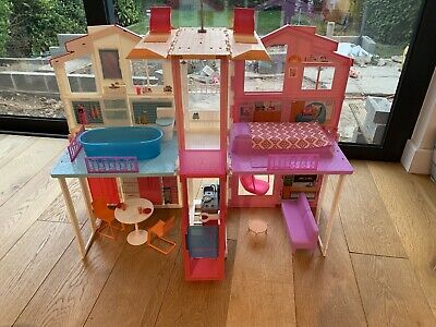 Barbie DLY32 Estate Three-Story Town House Colourful and Bright Doll House...