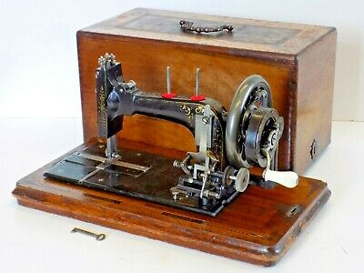 Frister Rossmann c1896 not Singer Sewing Machine Hand Crank Vintage Antique