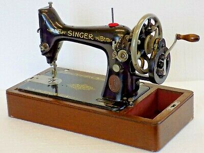 Singer 99K 1912 Sewing Machine Hand Crank Vintage Antique Collectible