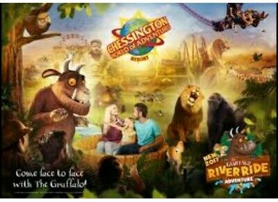 2 X Chessington Tickets 2nd June 2020 02/06/2020 Adult/Child Paper Tickets