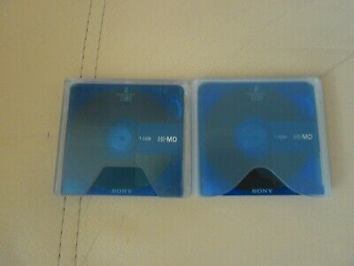 2 x SONY 1GB HI-MD RECORDABLE AUDIO MINIDISCS.