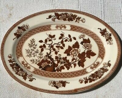 "Vintage China - Brown Transferware Indian Tree 12 1/2"" Platter By Nasco"