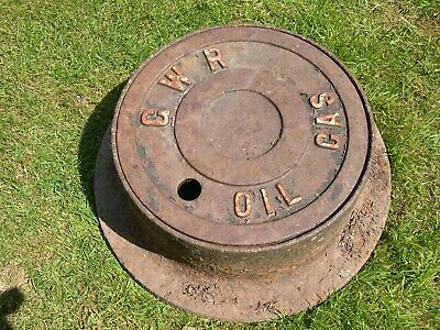 Large Cast Iron Gwr Oil Gas Valve Cover With Surround, Railway Platform Manhole
