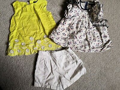 Marks And Spencer Girls Blouse And Shorts 2 Peice Set Age 2 - 3 Years Autograph