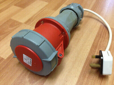 Mennekes IP67 Red Cable Mount 3P+N+E Industrial Socket 63A, 415V, 5 Pin, 3 Phase