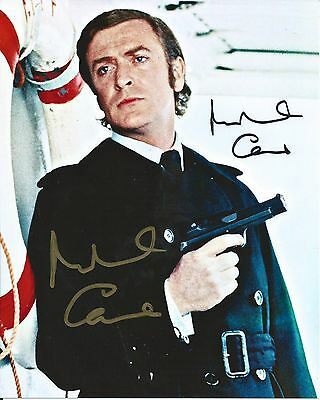 Michael Caine Incredible Signed Authentic Autographed 8x10 Photo COA