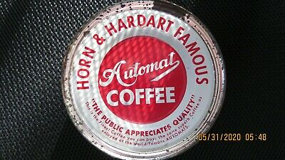 Vintage Horn & Hardart Coffee Tin Can W/Top-Coffee Collectible New York & Phila