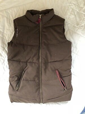 Little Joules Padded Body Warmer Girls Brown 11 To 12 Years Very Good Condition