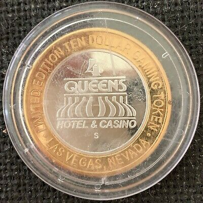 Four Queens silver strike limited edition gaming token