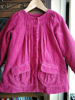 Monsoon Young Girl's Cord Jacket/ Fully Lined/ Dark Pink/ Age 4-6 Years