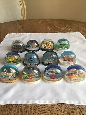 Lot 12 Vintage Snow Domes Globes toy