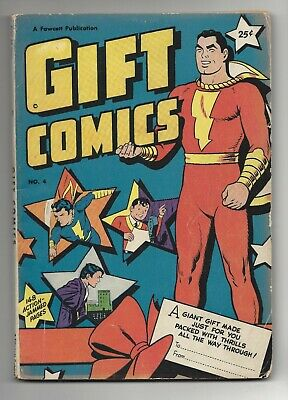 GIFT COMICS #4 VG/VG+ (1949) 152 pgs. Captain Marvel, No Restoration