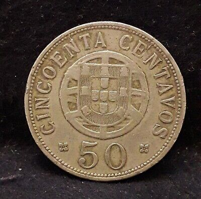 1927 Portuguese Angola (Colony) 50 centavos, KM-69 (AN2)