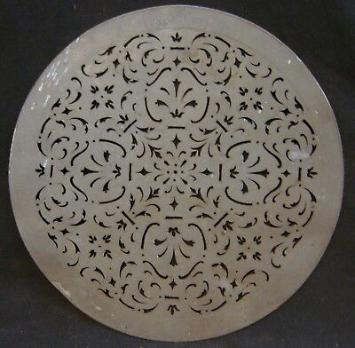Rare Antique Pierced Strainer Plate Pewter Touch Marks Excellent Workmanship