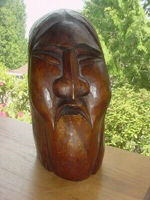 Carving Of Old Native Indian Man By Robert Kelly Nw Coast Salish