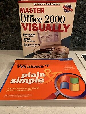 Master Office 2000 & Microsoft Windows XP Plain and Simple -slightly used