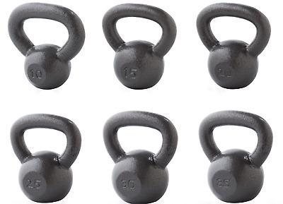 Kettlebell Grey Cast Iron Weider FREE SHIPPING 15, 20 & 25 lb Pairs and SINGLE