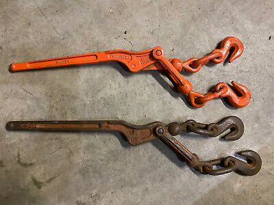 Load Binder Pull Lever Chain Hook Tie Down for Rigging Equipment