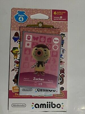 Animal Crossing NH Amiibo Card #364 Zucker new mint condition with sleeve