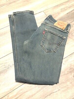 Levis 511 Slim Skinny Straight Men's Jeans SZ 29 x 30 Red Tab Dark wash