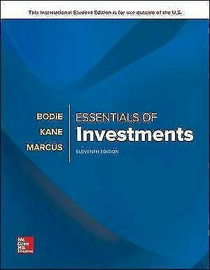 Essentials of Investments 11th edition by Bodie (9781260288391)