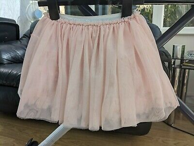 Girls Next Light Pink Tulle Ruffle Skirt 5-6 Years with silver elastic waistband