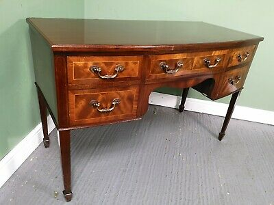 An Antique Style Flame Mahogany Desk Dressing Table ~Delivery Available~