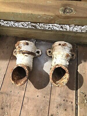 Antique Vintage Cast Iron Outlets For Gutters