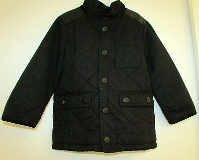 Boy's Quilted Jacket By Next Age 3 Years Black Used Good Condition