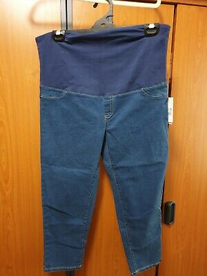 """Ladies """"B Collection"""" Maternity  Crop Jeans   Size 14 - Bnwt"""