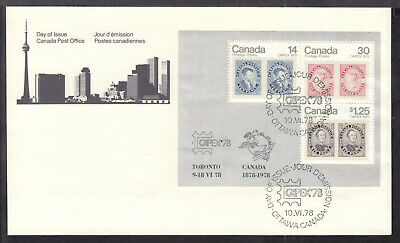 CANADA #756a SOUVENIR SHEET/3 on 1978 CAPEX '78 FDC