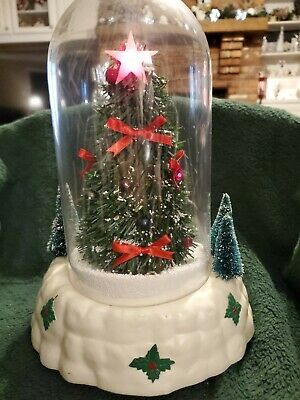 Vintage Lighted, Musical Christmas Tree Dome
